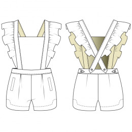 19th of January Overall Shorts Woman