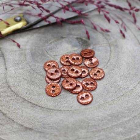 Glitter Buttons - Chestnut