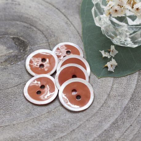 Halo Buttons - Chestnut