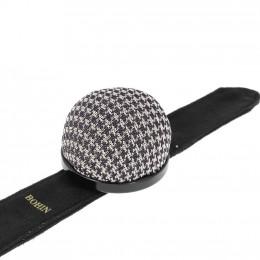 """Bracelet ajustable porte épingles """"pied de poule"""""""