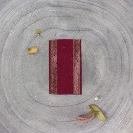 Striped rubber band - Amarante