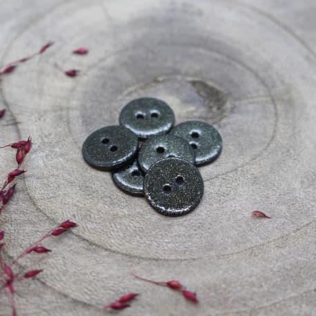 Glitter Buttons - Forest