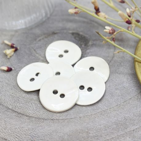 Boutons Glossy - Off-White