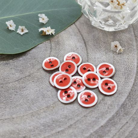 Halo Buttons - Tangerine