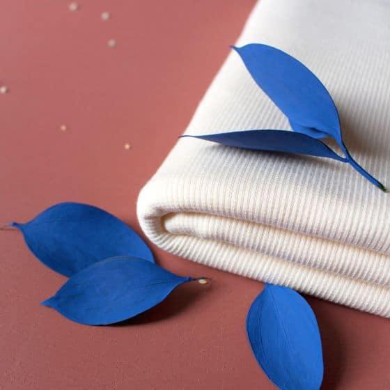 """Tissu """"Bord-côte Off-White"""""""