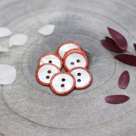 Glitz Buttons - Tangerine