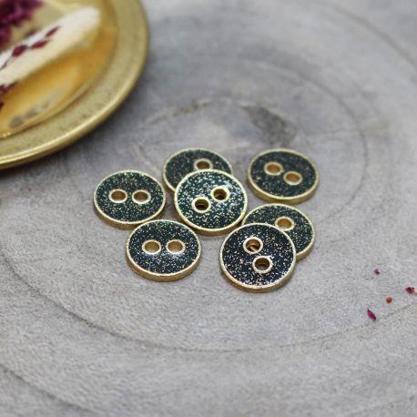 Joy Glitter Buttons - Forest
