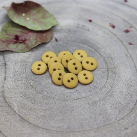 Classic Matte Buttons - Mustard