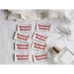 """""""Bonjour Beauté"""" Woven labels"""