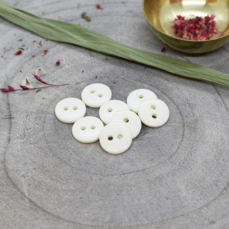 Classic Shine Buttons - Off-White