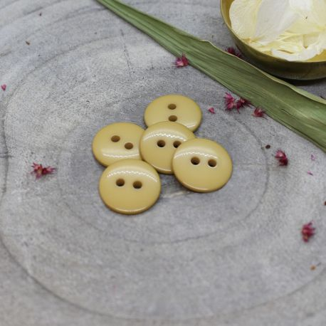 Classic Shine Buttons - Mustard