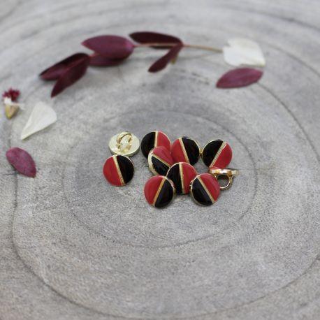 Wink Buttons Black - Terracotta