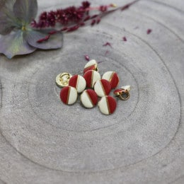 Wink Buttons Off-White - Terracotta
