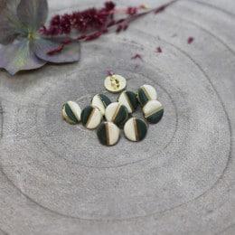 Wink Buttons Off-White - Cedar