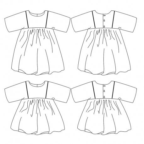 Sakura dress 3-12 yo