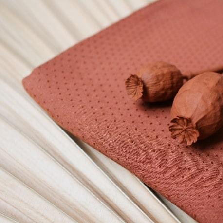 """Tissu """"Dobby Chestnut"""""""