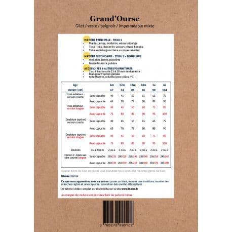 Grand'Ourse Vest 6 m-4 yo